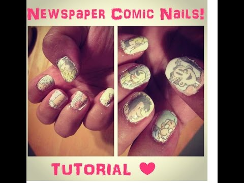Newspaper Comic Nails Newspaper Comic Nails Tutorial