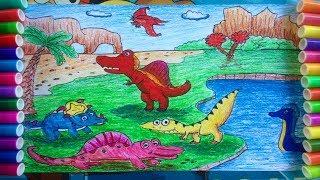 vẽ khủng long bạo chúa, khủng long ba sừng