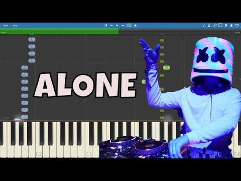 Marshmello - Alone - Piano Tutorial