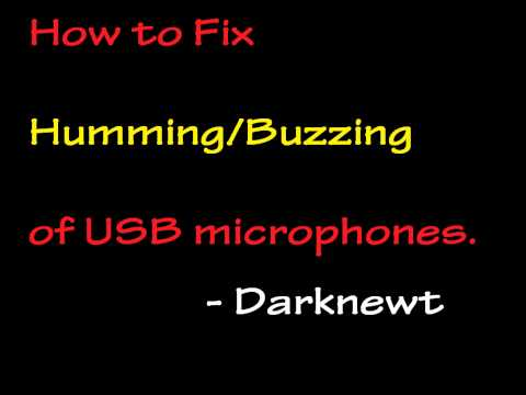 How to fix Buzzing/Humming of USB microphone.