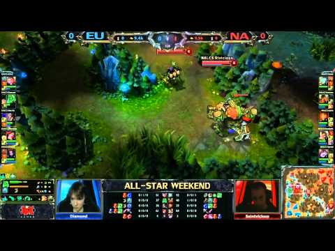 2013 ALL-STAR League of Legends NA vs EU game 1