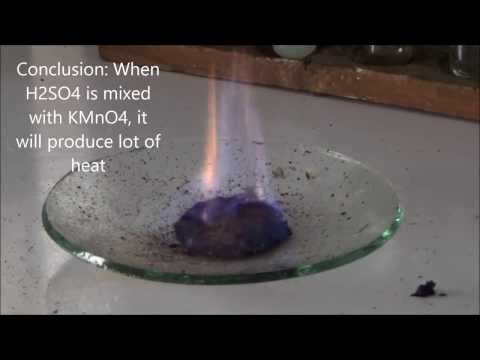 KMnO4 + H2SO4 makes fire - Fire Without Matches