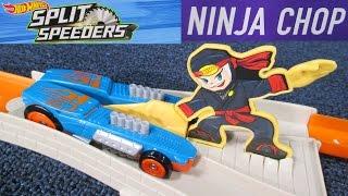 Hot Wheels Split Speeders Ninja Chop Track Set Play Set Review By RaceGrooves
