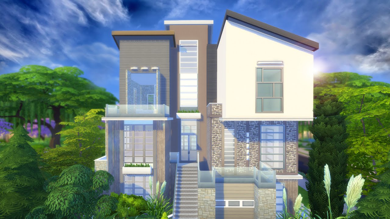 The Sims 4 House building - Zoe's modern Home Part 2