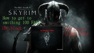 Skyrim level up smithing fast after patch 19