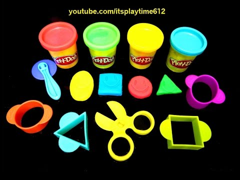 Play-Doh STARTER SET FOR TODDLERS Learn Shapes   itsplaytime612