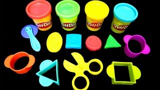 """Play-Doh STARTER SET Video For """"TODDLERS"""" Learn Shapes 