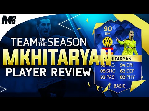 FIFA 16 TOTS MKHITARYAN REVIEW (90) FIFA 16 Ultimate Team Player Review + In Game Stats
