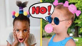 We Tried 13 Cute Hairstyle Ideas for Little Girls - Will They Work? CrayCray Family Vlog