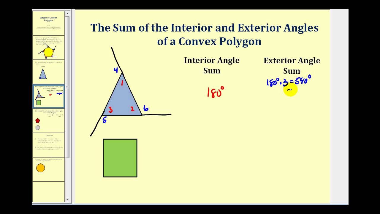 Interior And Exterior Angles Of A Polygon Youtube