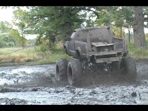 Hellraiser Monster truck Mud Bogging Video