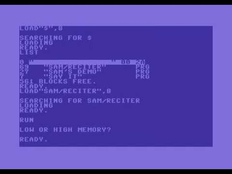 Voice of the Commodore 64: SAM