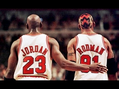 http://youtube.com/Scottie33Pippen Interviews with Michael Jordan and Dennis Rodman early in the 1996 season.