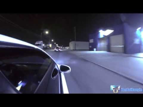 Honda Civic Race Chase By Police Helicopter