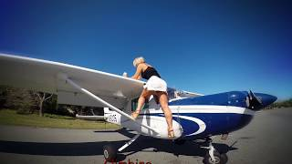 Gyrocopter Girl Flying in Florida for PPL 2016 03 26