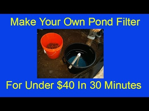 DIY Koi Pond Filter For Under $40