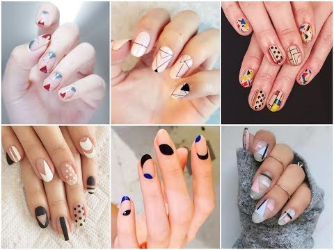 50 Lovely Geometric Nail Art Design Ideas