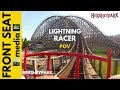Hersheypark Ride on Lightning Racer POV HD Front Seat Video 2012 1080p Roller Coasters Wooden