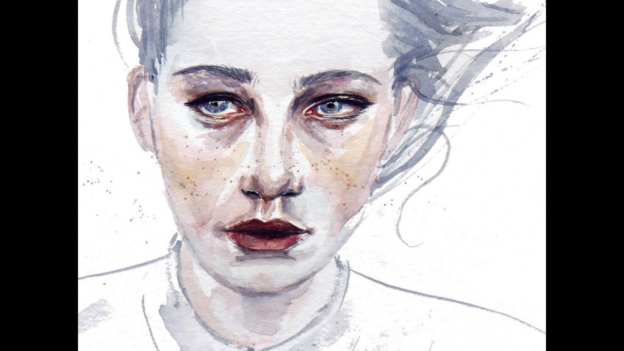 Realistic Watercolor Portraits Monster Watercolor Portrait