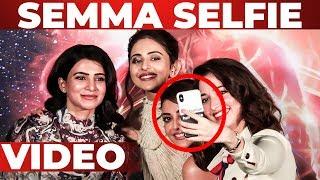 SEMMA Selfie Candid Video – Samantha, Tamannaah & Kajal At Captain Marvel
