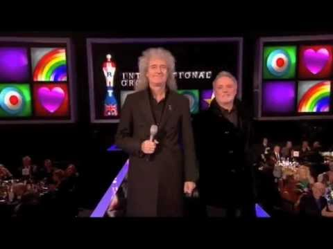 Brian May&Roger Taylor present Brit Award Best Int'l Group 2012