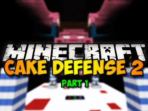 Minecraft Mini-Game: Cake Defense 2 w/ Chim, Generikb, and BdoubleO! - Part 1 (HD)