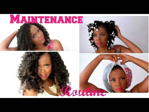How To   Maintain CURLY & LUSCIOUS Crochet Braids w/ Marley Hair + Crochet Braids Update