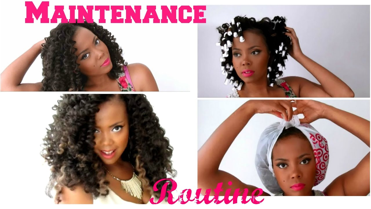 Crochet Hair Upkeep : ... Crochet Braids w/ Marley Hair + Crochet Braids Update - YouTube
