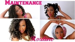 How To | Maintain CURLY & LUSCIOUS Crochet Braids w/ Marley Hair + Crochet Braids Update