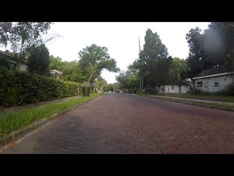 Florida Bike #commute Tuesday morning - Windy  Post office - rear camera, part 2/3