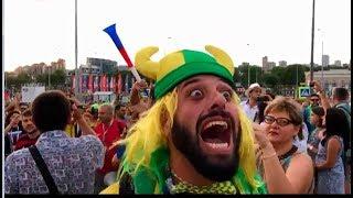 Болельщики Бразилии в Ростове: матч по футболу ЧМ-2018 Бразилия-Швейцария-1:1