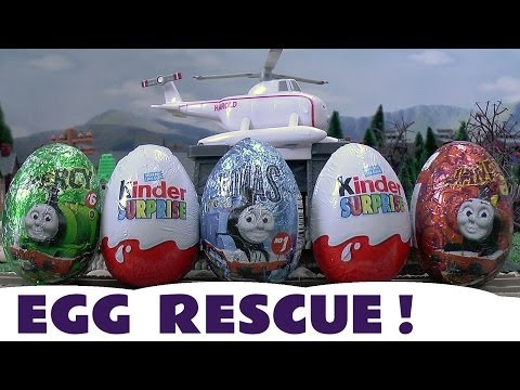 Surprise Eggs Kinder Surprise Thomas & Friends Eggs Toys Emergency Egg Rescue Flynn Belle Harold video