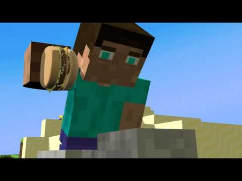 Discovery Of a Burger - Minecraft Animation Music Videos