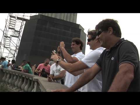 Rafael Nadal en visita a la estatua del Cristo Redentor   Rio Open