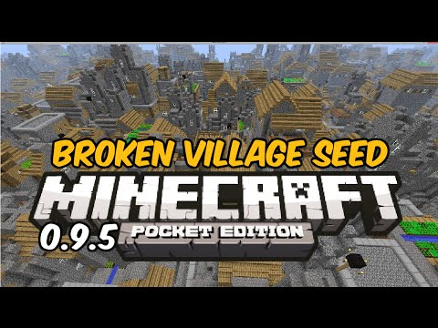 [0.9.5] INSANE BROKEN VILLAGE SEED! - Minecraft Pocket Edition 0.9.5 Seed Review