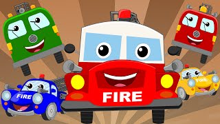 Happy and Sweety  Fire Truck Song   Fire Trucks   Vehicle Songs And Rhymes