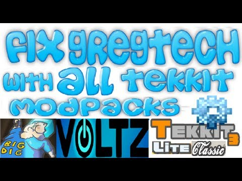 How to Fix Gregtech mod with ALL technic launcher modpacks, servers and minecraft versions