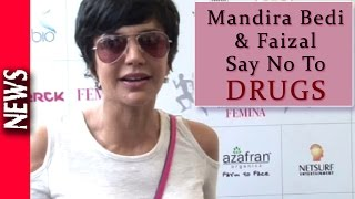Latest Bollywood News - Mandira Bedi And Faizal Anti Drug Campaign - Bollywood Gossip 2016