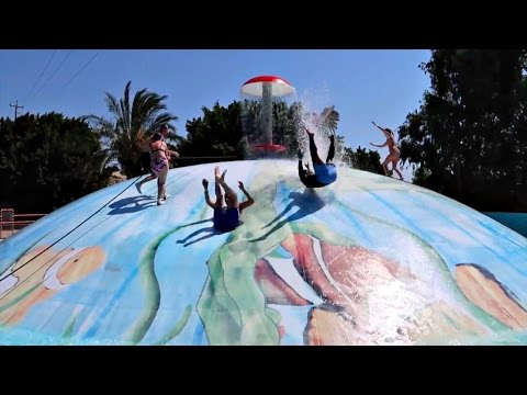 Scary Water Park Rides & Slides - Giant Water Bubble - Water Park Video For Kids