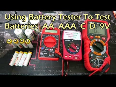 Using a battery tester vs multimeter to test batteries