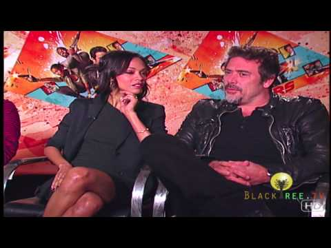 THE LOSERS interview with Zoë Saldaña, Idris Elba and Jeffrey Dean Morgan