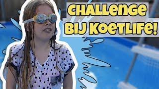 KOETLIFE POOLPARTY (CHALLENGE) !! - Broer en Zus TV VLOG #178