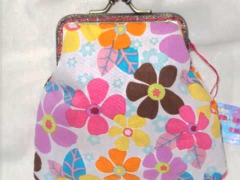 Como fazer bolsas de tecido com fecho metalico