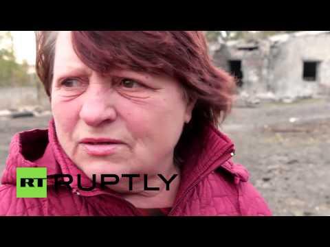 Ukraine: Residents left homeless after battle for Kommunar in E Ukraine