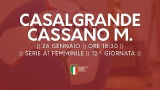 Serie A1F [12^]: Casalgrande - Cassano Magnago 30-25