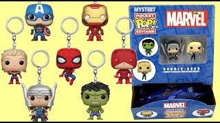 Full Box Marvel AVENGERS: Infiniti War Superhero Keychain Funko POP