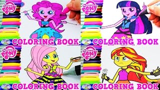 My Little Pony Equestria Girls Coloring Book Compilation Episode Surprise Egg and Toy Collector SETC