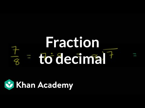 Converting Fractions to Decimals Example