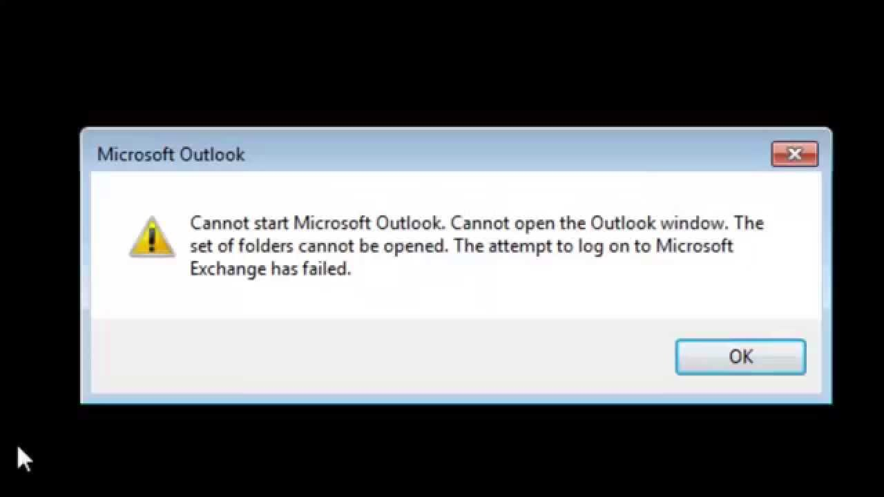 outlook 2013 error cannot start microsoft outlook cannot