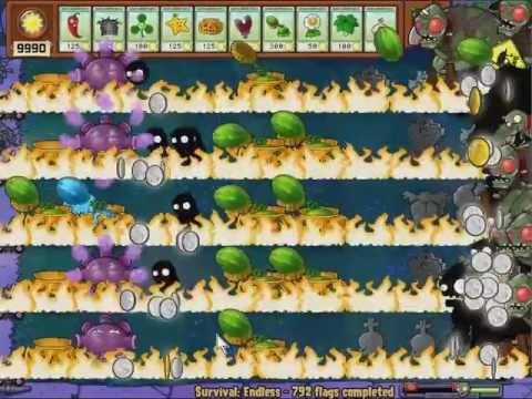 Plants Vs Zombies Survival Endless Cheat